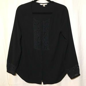 LC Lauren Conrad Long Sleeve Button Down Blouse
